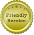 Friendly Service Golden Sticker