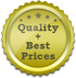 Quality plus Best Prices Golden Sticker